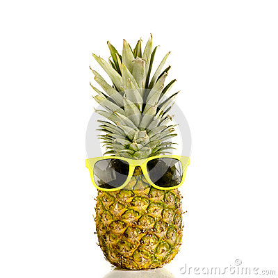 Pineapple Wearing Sunglasses Stock Photo Image 43440639
