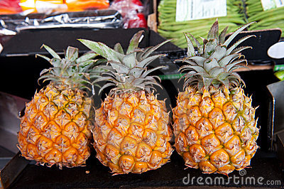 Pineapples at the market