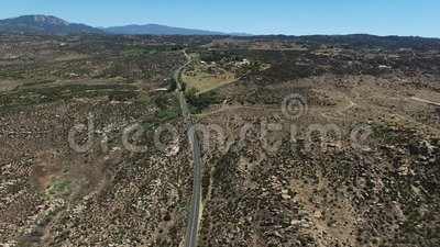 Pines to Palms Highway at Cahuilla Reservation. stock footage