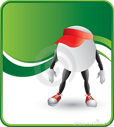 Ping pong ball character with visors