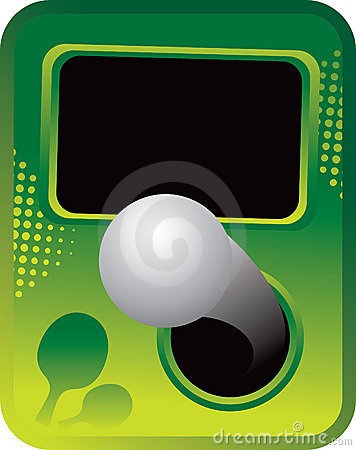 Ping pong ball on green halftone template