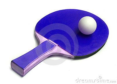 Ping-pong ball on  racket