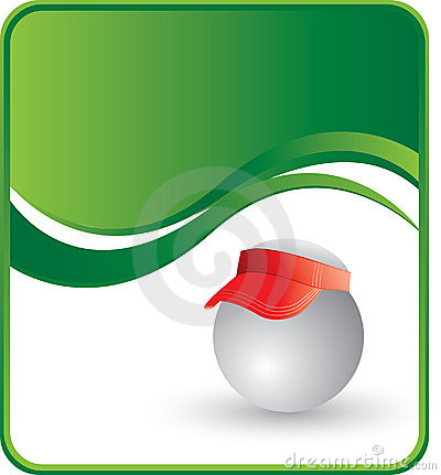 Ping pong ball with a visor