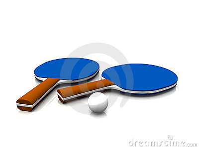 Ping pong equipment.