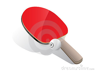 Ping-pong paddle and ball