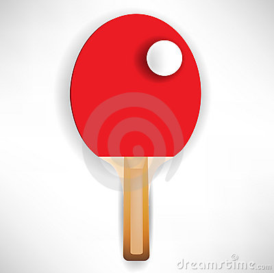Ping pong paddle with ball