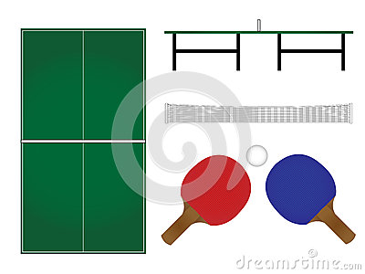 Ping Pong Table & Racket