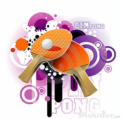 Ping pong vector illustration