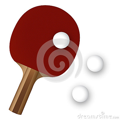 Pingpong paddle and ball