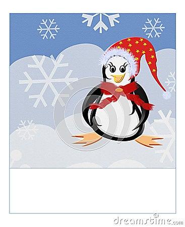 pinguin karte frohe weihnachten stockfotografie bild. Black Bedroom Furniture Sets. Home Design Ideas