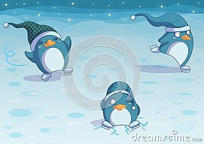 Pinguine auf Eis