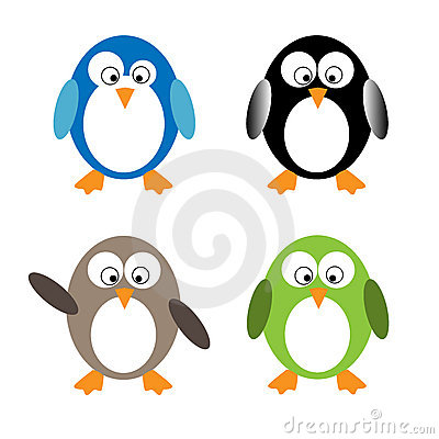 Pinguins engraçados