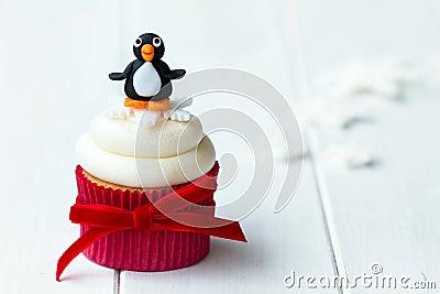 Pinguïn cupcake