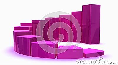 Pink 3d graph