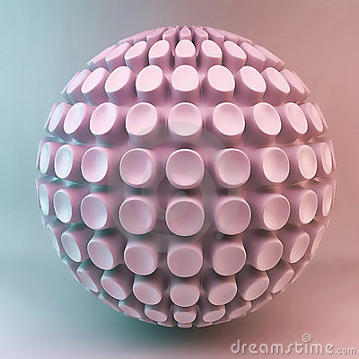 Pink 3d sphere abstraction