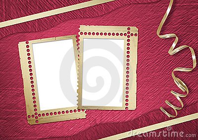 Pink abstract background with frame