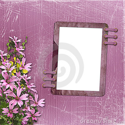 Free Pink Abstract Background With Frame Stock Photo - 8824200