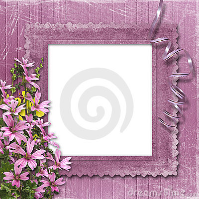 Free Pink Abstract Background With Frame Stock Photography - 8824252