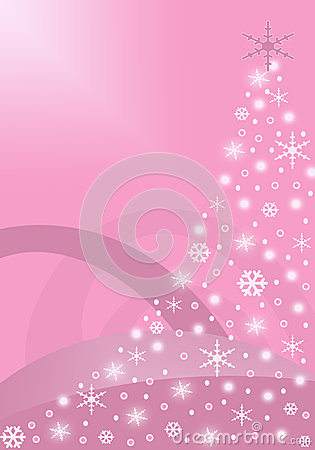 Pink abstract Christmas Tree