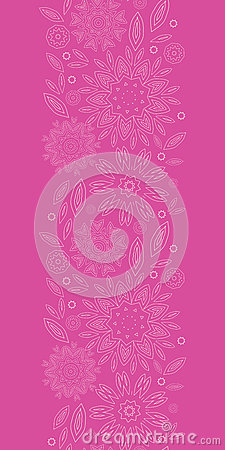 Pink abstract flowers texture vertical seamless