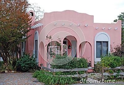 Pink Adobe House 16