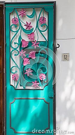 Free Pink And Aqua Door Stock Image - 37382761