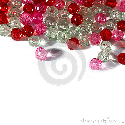 Free Pink And Red Beads Royalty Free Stock Photos - 30974848