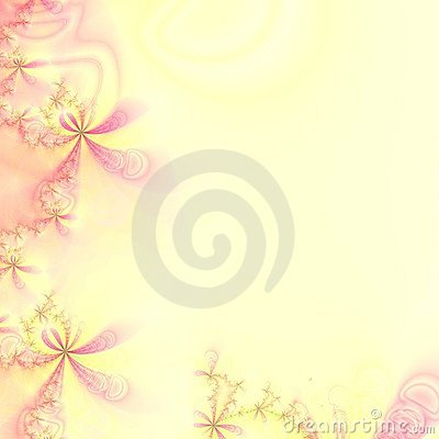 Free Pink And Yellow Abstract Design Template, Frame Or Wallpaper Stock Images - 1672734