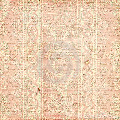 Pink Antique Grungy Vintage Flower background
