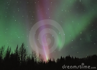 Pink Aurora Borealis