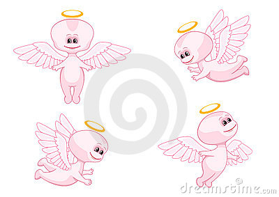 Pink baby angels