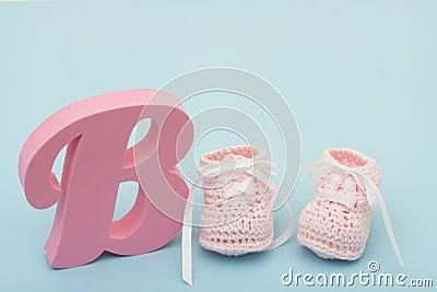 Pink Baby Booties