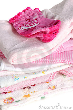 Pink Baby Clothes Royalty Free Stock Images - Image: 21393669