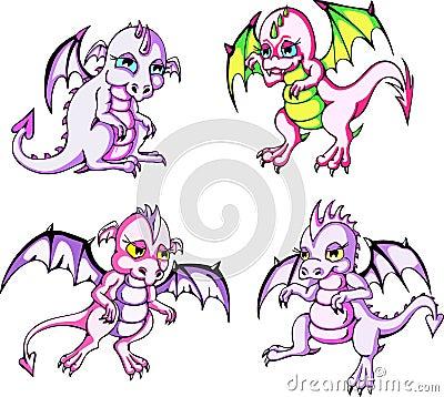 Pink baby dragons
