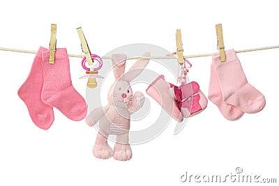 Pink baby goods