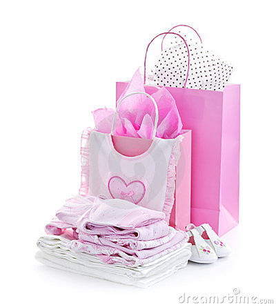 Free Pink Baby Shower Presents Stock Images - 19672364