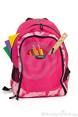 Free Pink Backback For School Royalty Free Stock Photos - 2968508
