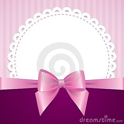Pink background with bow