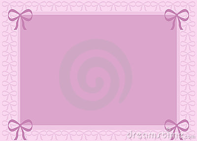 Pink Background with Bows
