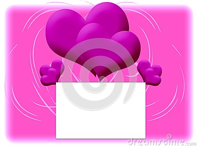 Pink background with double hearts