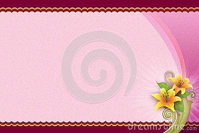 Pink Background With Flower For Blank Card Royalty Free – Free Blank Greeting Card Templates