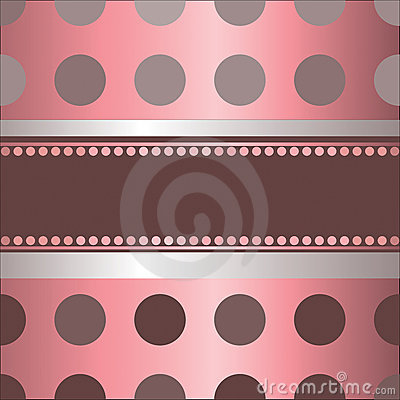 Pink  background  by  polka dot