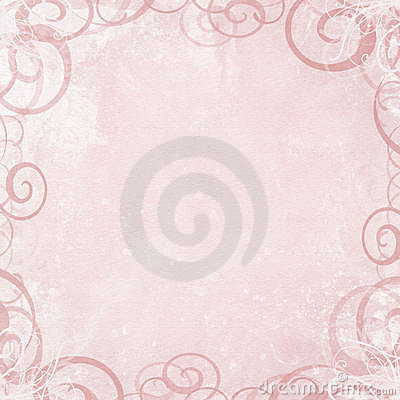 Pink background with swirl border