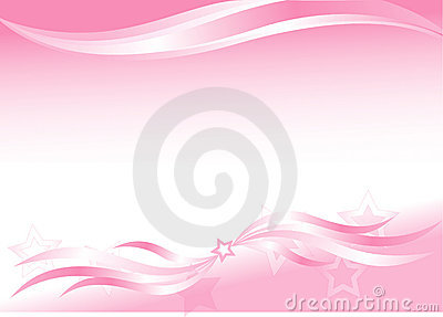 Pink background with waves and stars