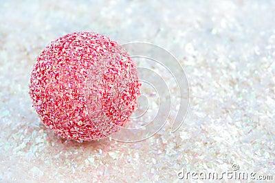Pink ball on glitter