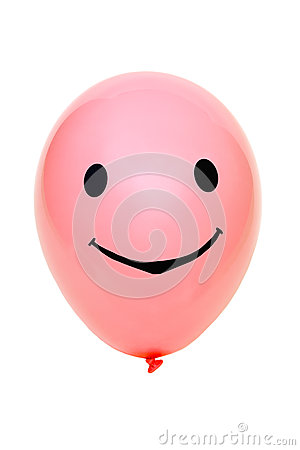 Balloon with eyes and mouth