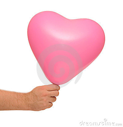 Pink balloon in hand
