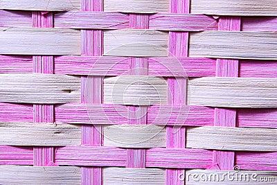Pink Basket Weave
