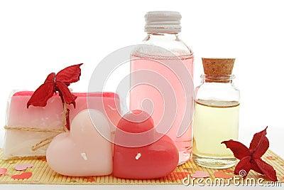 Pink bath set