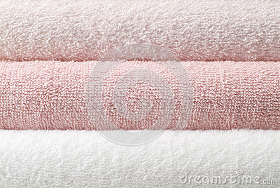 Pink bath towel